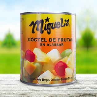 coctel de frutas en almibar
